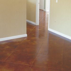 stained concrete floor in office