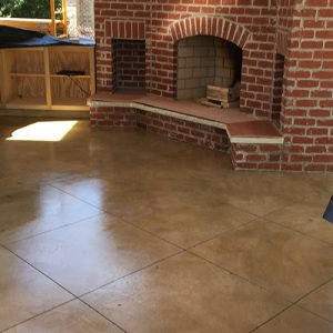 stained concrete for an outdoor kitchen
