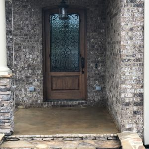 stained concrete on front porch