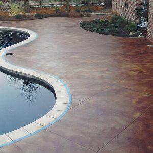 concrete stain for pool deck