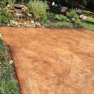 stained concrete outdoor