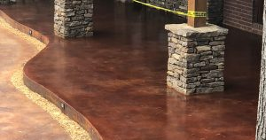 stained concrete patio in Amory ms